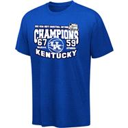 Kentucky Wildcats Royal 2012 NCAA Basketball National Champions Score T-Shirt