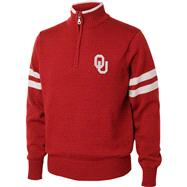 Oklahoma Sooners Cardinal/White 1/4 Zip Pullover Sweater