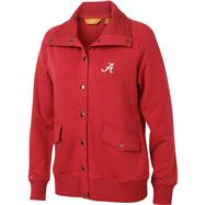 Alabama Crimson Tide Women's Cardinal Snap Placket Jacket