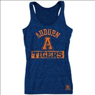 Auburn Tigers Women's Navy adidas Retro Mascot Heathered Tri-Blend Tank Top