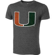 Miami Hurricanes Charcoal Heather Mascot T-Shirt