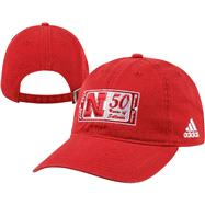 Nebraska Cornhuskers adidas Red 50 Years of Sellouts Adjustable Hat