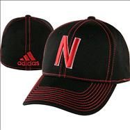 Nebraska Cornhuskers adidas Unrivaled Structured Flex Hat