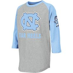North Carolina Tar Heels Youth Ball Park 3/4 Sleeve T-Shirt