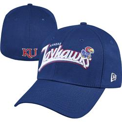 Kansas Jayhawks Royal New Era 39THIRTY Tail Swoop Classic Stretch Fit Hat