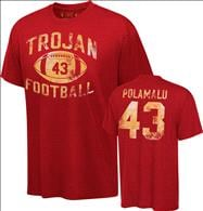 USC Trojans Cardinal Legend Troy Polamalu Commemorative #43 Distressed Practice T-Shirt