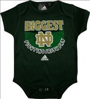 Notre Dame Fighting Irish Newborn Green adidas Biggest Little Fan Creeper