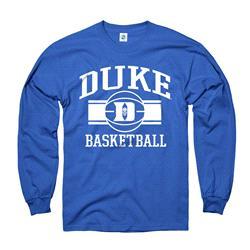 Duke Blue Devils Youth Wide Stripe Basketball Long Sleeve T-Shirt