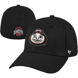 Ohio State Buckeyes '47 Brand Black Brutus Franchise Fitted Hat