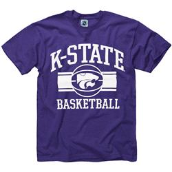 Kansas State Wildcats Youth Purple Wide Stripe Basketball T-Shirt