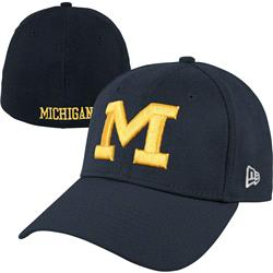 Michigan Wolverines New Era Navy 39THIRTY Alt Classic Flex Hat