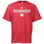 Nebraska Cornhuskers adidas Red Anti-Microbial Football Sideline T-Shirt
