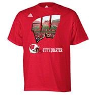 Wisconsin Badgers adidas Red Stadium Glimpse T-Shirt