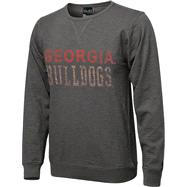 Georgia Bulldogs Black Knockout Slub Knit T-Shirt