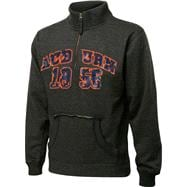 Auburn Tigers Charcoal Collegiate Crush 1/4 Zip Fleece Sweatshirt