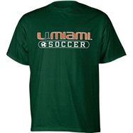 Miami Hurricanes Green Soccer T-Shirt