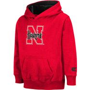 Nebraska Cornhuskers Kids 4-7 Red Automatic Hooded Sweatshirt