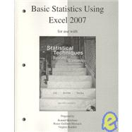 Basic Statistics Using Excel to accompany Statistical Techniques in Business and Economics,9780077270018