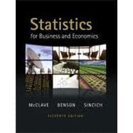 Statistics for Business and Economics, 9780321640116  