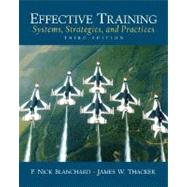 Effective Training : Systems, Strategies and Practices,9780131860117