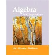 Algebra for College Students plus MyMathLab/MyStatLab -- Access Card Package,9780321760166