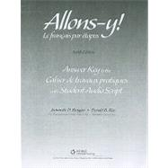 Workbook/Lab Manual Answer Key for Allons-y!: Le Fran�ais par etapes, 6th