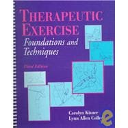 Therapeutic Exercises : Foundations and Techniques