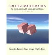 College Mathematics for Business, Economics, Life Sciences, and Social Sciences,9780130920546