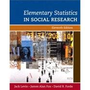 Elementary Statistics in Social Research, 9780205570690
