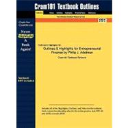 Outlines and Highlights for Entrepreneurial Finance by Philip J Adelman, Isbn : 9780135025291