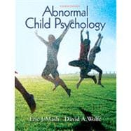 Abnormal Child Psychology, 4th Edition,9781133330776
