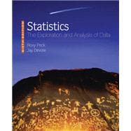 Statistics : The Exploration and Analysis of Data