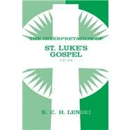 Interpretation of St Luke's Gospel 12-24, 9780806680880  