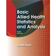 Basic Allied Health Statistics and Analysis,9781428320895