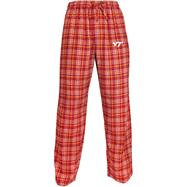 Virginia Tech Hokies Maroon Empire Flannel Pants