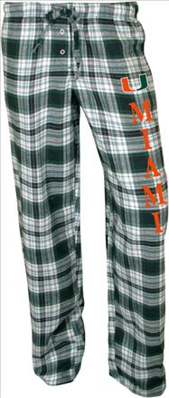 Miami Hurricanes Women's Dark Green Crossroad Flannel Pants