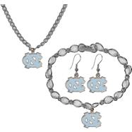 North Carolina Tar Heels Jewelry Gift Set