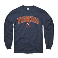 Virginia Cavaliers Youth Navy Long Sleeve Perennial II T-Shirt