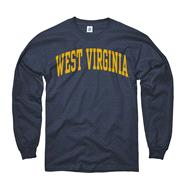 West Virginia Mountaineers Youth Navy Arch Long Sleeve T-Shirt