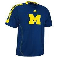 Michigan Wolverines adidas Navy Youth Players Crew T-Shirt