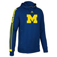 Michigan Wolverines adidas 2012 Navy Youth Sideline Swagger Hooded Sweatshirt