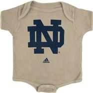 Notre Dame Fighting Irish adidas Old Gold Infant Logo Creeper