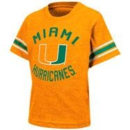 Miami Hurricanes Orange Toddler Receiver T-Shirt