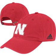Nebraska Cornhuskers adidas Red Slouch Adjustable Hat