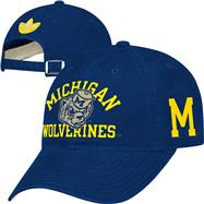 Michigan Wolverines adidas Navy Homecoming Slouch Adjustable Hat