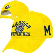 Michigan Wolverines adidas Gold Homecoming Slouch Adjustable Hat