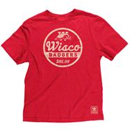 Wisconsin Badgers Red adidas Originals College Vault Super Soft Vintage Wisco Quality T-Shirt