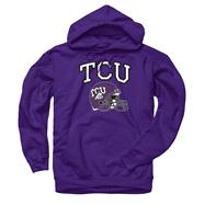 TCU Horned Frogs Purple Football Helmet Hooded Sweatshirt