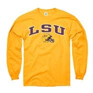 LSU Tigers Youth Gold Football Helmet Long Sleeve T-Shirt