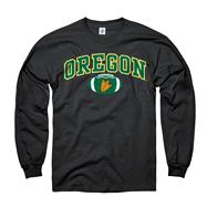 Oregon Ducks Youth Black Football Long Sleeve T-Shirt